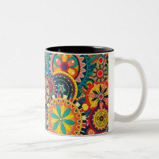 Taza de café loca de los colores