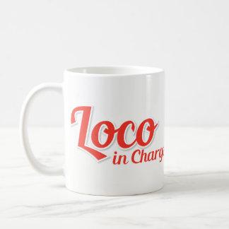 Taza De Café Loco en el rojo intrépido de Chargo