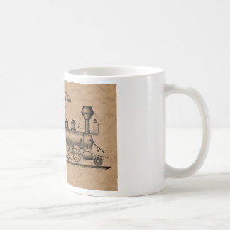 Taza De Café Locomotora de vapor de Baldwin