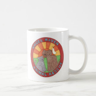 Taza De Café Logotipo animal del rescate del asilo del ángel