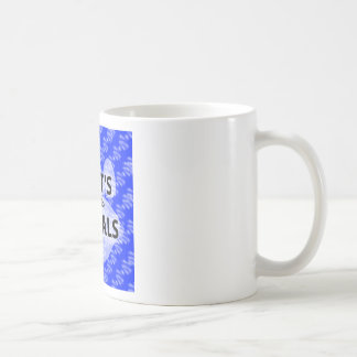 Taza De Café Logotipo azul hecho un podcast AIGTA
