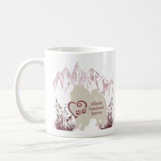 Taza De Café Logotipo de AKR - color de rosa - café y piel de