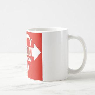 Taza De Café Logotipo de la obra clásica de la flecha de