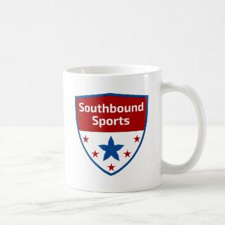 Taza De Café Logotipo Southbound del escudo de los deportes