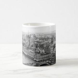 Taza De Café Londres blanco y negro