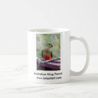 Taza De Café Loro femenino del rey