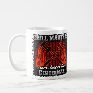 Taza De Café Los amos de la parrilla nacen en Cincinnati Ohio