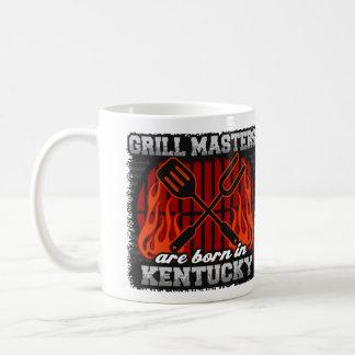 Taza De Café Los amos de la parrilla nacen en Kentucky