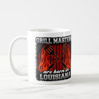 Taza De Café Los amos de la parrilla nacen en Luisiana