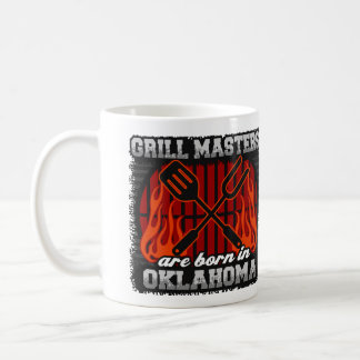 Taza De Café Los amos de la parrilla nacen en Oklahoma