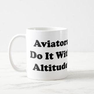 Taza De Café Los aviadores lo hacen con altitud