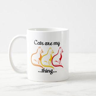 Taza De Café Los Gatito-Gatos que se sientan agraciados son mi