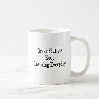 Taza De Café Los grandes flautistas mantienen el aprendizaje