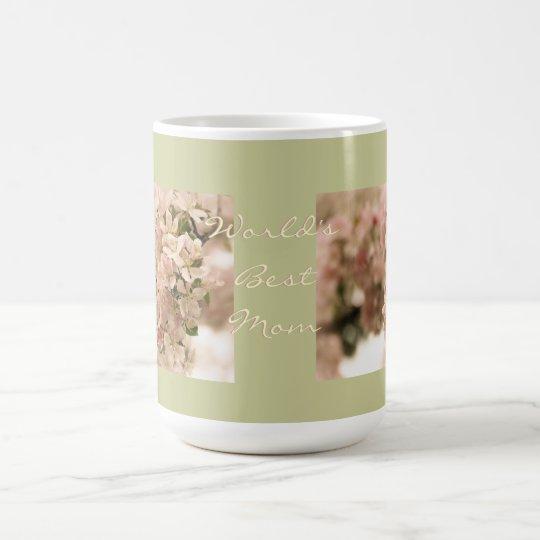 Taza De Café Los mejores flores de Apple de la mamá del mundo