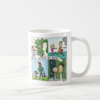 Taza De Café Los padres son héroes
