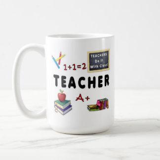 Taza De Café Los profesores lo hacen con la clase