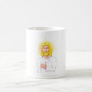 Taza De Café Los pulgares suben a Jesús