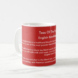 """Taza De Café Los """"tés del mundo"""" asaltan - té del desayuno"""