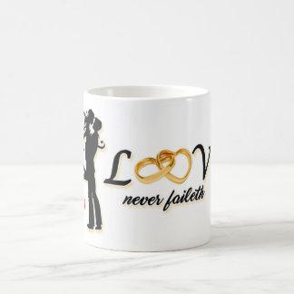 Taza De Café Love never faileth