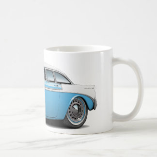 Taza De Café Lt 1956 de Chevy Belair Azul-Blanco Car