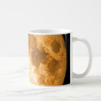 Taza De Café Luna Llena anaranjada