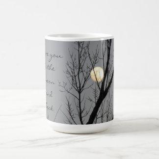 Taza De Café Luna Llena y árbol, te amo a la luna y a la parte