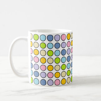 Taza De Café Lunares en colores pastel resumidos negro del arco