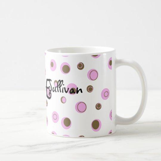 Taza De Café Lunares rosados de Brown cones monograma