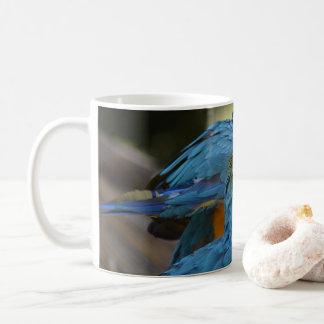 Taza De Café Macaws azules y amarillos