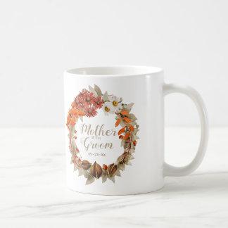 Taza De Café Madre anaranjada de la guirnalda del boda de la