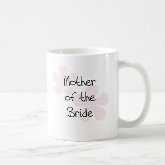 Taza De Café Madre en colores pastel rosada de las flores de la
