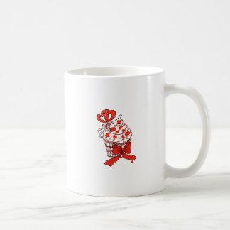Taza De Café Magdalena de la tarjeta del día de San Valentín