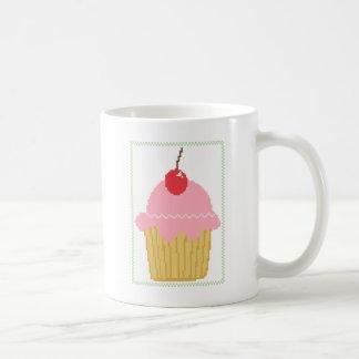 Taza De Café magdalena rosada de la cereza