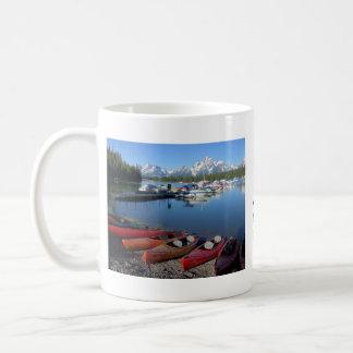 Taza de café magnífica del parque nacional de