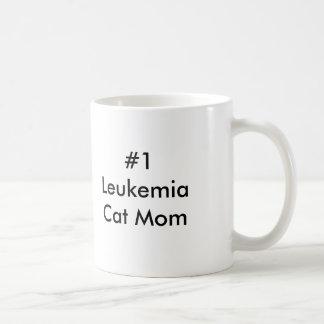 Taza De Café Mamá del gato de la leucemia #1
