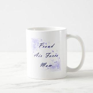 Taza De Café Mamá orgullosa de la fuerza aérea