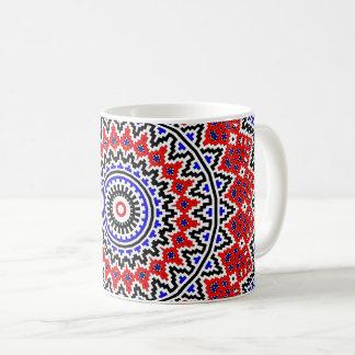 Taza De Café Mandala 2 del mosaico