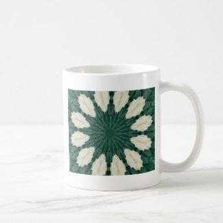 Taza De Café Mandala. de la hoja verde y de plata de Sacramento