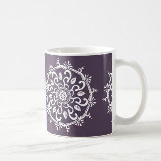 Taza De Café Mandala del ciruelo