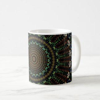 Taza De Café Mandala del teñido anudado