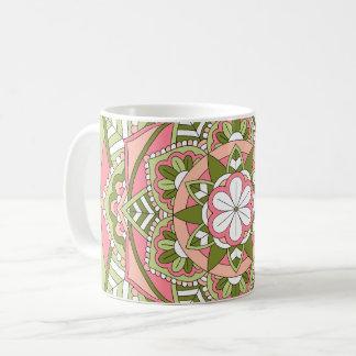 Taza De Café Mandala floral coloreada 061117_1