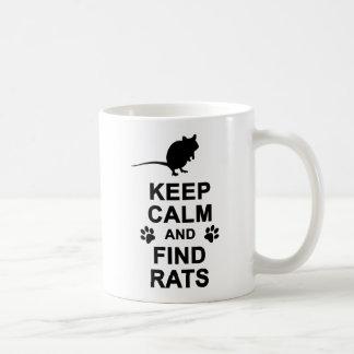 Taza De Café Mantenga las ratas tranquilas y del hallazgo