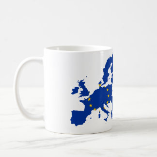 Taza De Café Mapa de la bandera de unión europea