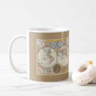 Taza De Café Mapa del mundo del vintage