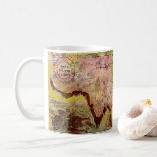 Taza De Café Mapa indio ilustrado del territorio de Oklahoma