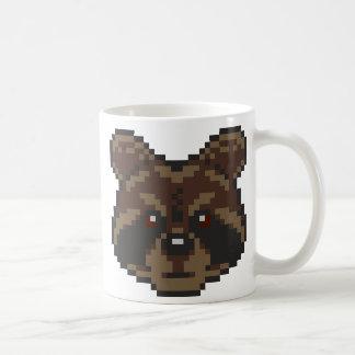 Taza De Café Mapache del Pixel-Arte