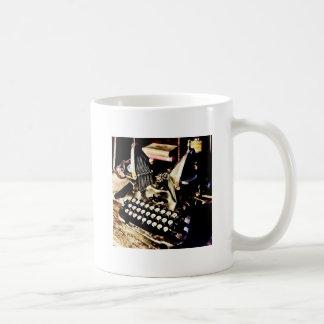 Taza De Café Máquina de escribir antigua Oliverio #9