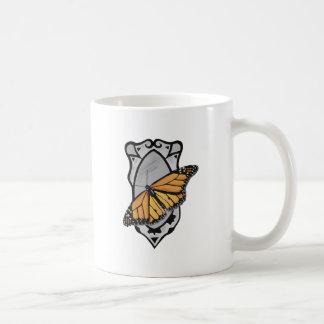 Taza De Café Mariposa del espejo