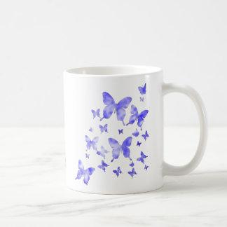 Taza De Café Mariposas azules
