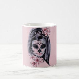 Taza De Café Máscara del esqueleto de la mujer